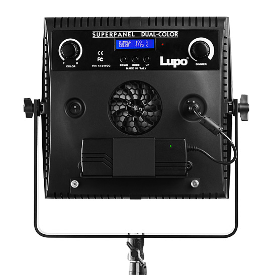 Lupo SuperPanel Dual Colour LED Studio Panel Light - Rear view