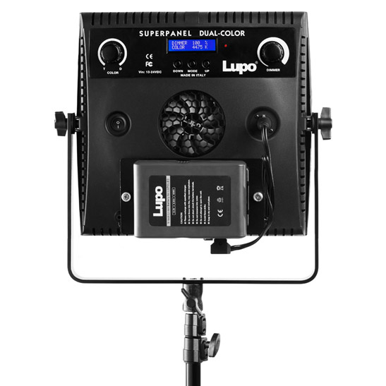 Lithum-ion Battery powered bi-color panel light by Lupo