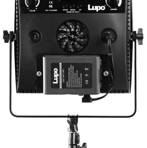 Lupo SuperPanel rear view with battery attached