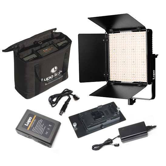 Lupo SuperPanel Panel Light Kit - Battery, Charger, Adapter Plate, Lead, Bag