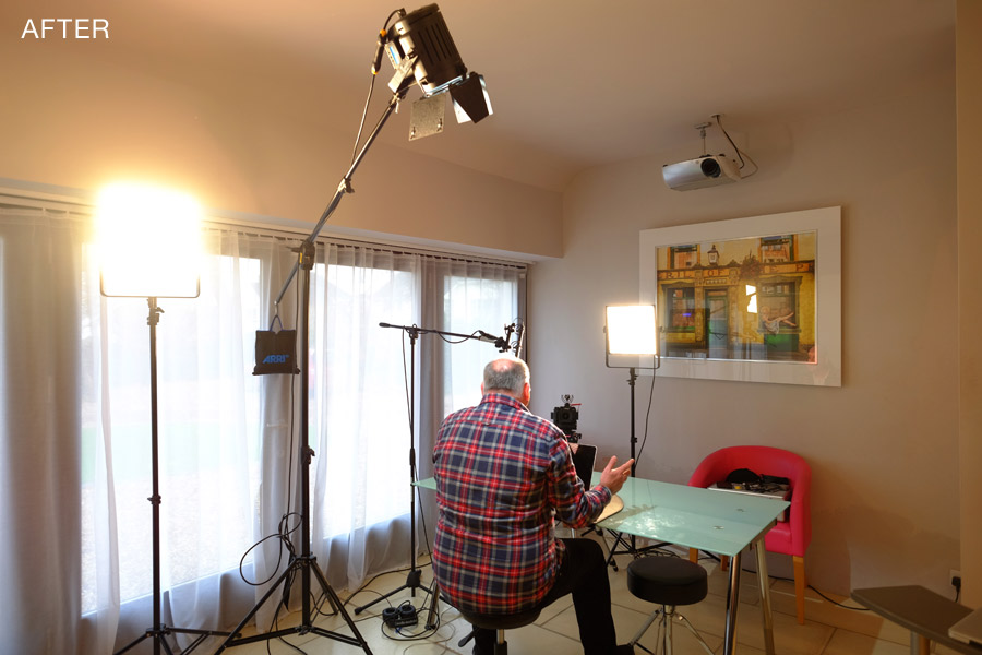 3 point lighting set up by Damien Lovegrove - Lovegrove.Lighting